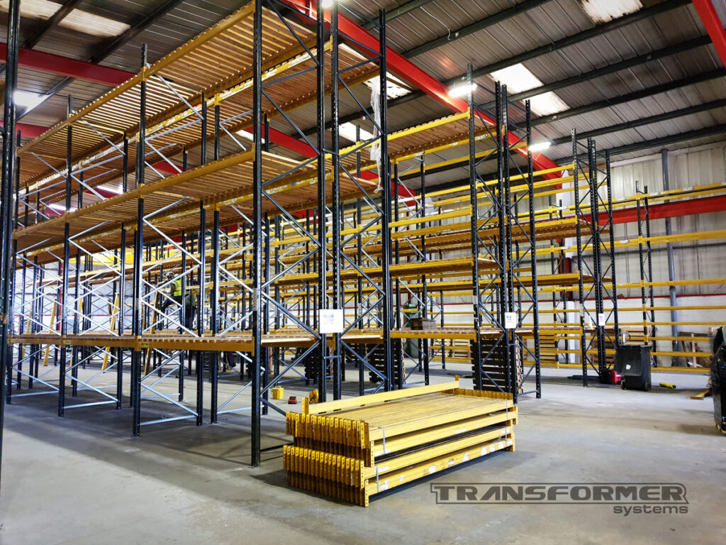 Pallet Racking Relocation for a Company Expanding Their Business. Dexion Speedlock pallet racking