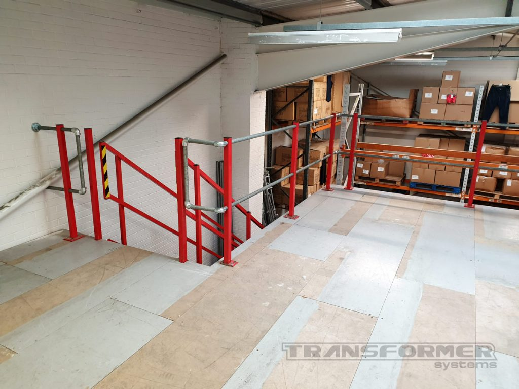 Used Mezzanine Flooring with Staircase and Handrail