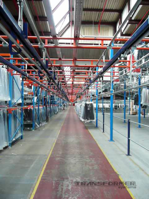 Slickrail and Hanging Garment Racking, for the transport and storage of hanging garments.