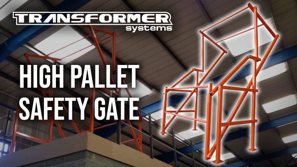 High Pallet Safety Gate Installation on Mezzanine Floor