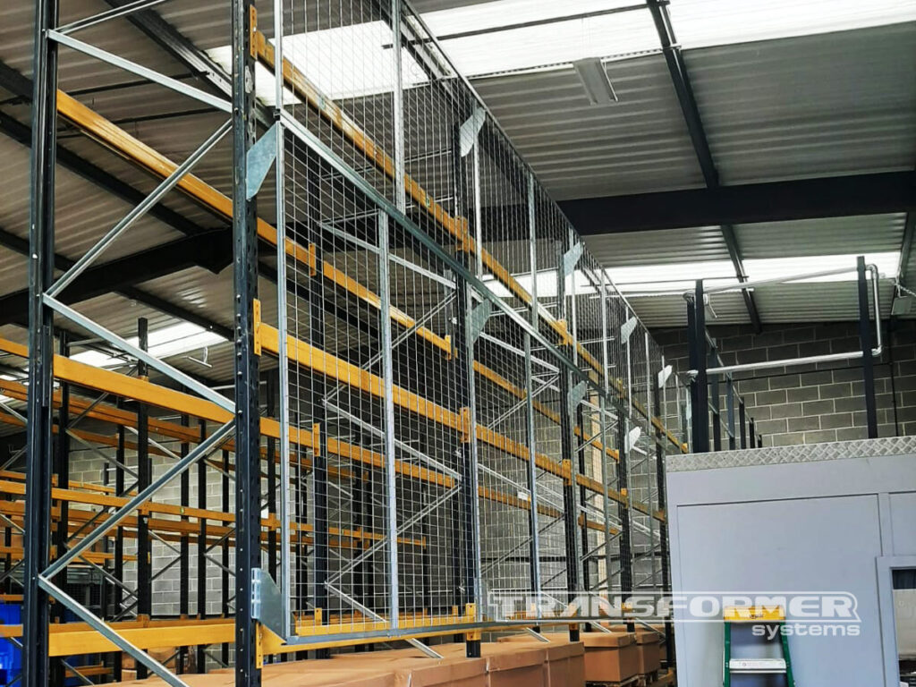 Pallet Racking Anti-Collapse Mesh, for protection from falling goods